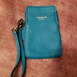 Coach Accessories | New Coach Universal Phone Case #62808 | Color: Blue | Size: Os