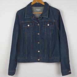 J. Crew Jackets & Coats | J. Crew Dark Wash Denim 100% Cotton Jean Jacket | Color: Blue | Size: L