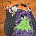 Disney Kitchen   2pc Disney Mickey Minnie Mouse Halloween Apron Set   Color: Black/Green   Size: Os