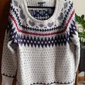 American Eagle Outfitters Sweaters | Aeo Grey Fair Isle Sweater | Color: Blue/Gray | Size: L