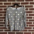 J. Crew Tops   J. Crew Navy And White Crewneck Stripe Top   Color: Gold/White   Size: S