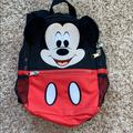 Disney Accessories | Disney Parks Mickey Mouse Preschool Backpack. | Color: Black/Red | Size: Osb