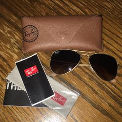 Ray-Ban Accessories   Brand New Rayban Matte Gold Aviators   Color: Gold   Size: Small
