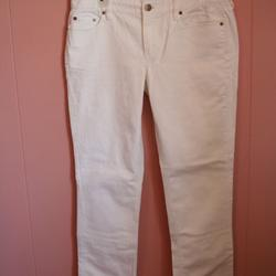 J. Crew Jeans | J. Crew Matchstick Jean Jeans In White Denim 32s | Color: White | Size: 32 Short