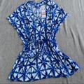 Michael Kors Swim | Micheal Kors Tie-Dye Swimsuit Cover Up | Color: Blue/White | Size: Xs