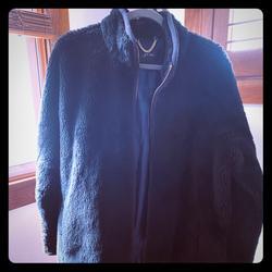 J. Crew Jackets & Coats | Jcrew Faux Fur Coat | Color: Black | Size: L