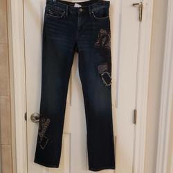 Ralph Lauren Jeans | Lauren Jeans Distressed Embroiled Women'S Jeans | Color: Blue | Size: 4