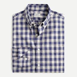 J. Crew Shirts | Nwt J. Crew Stretch Cotton Poplin Shirt Gingham | Color: Blue/White | Size: S