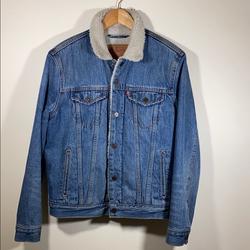 Levi's Jackets & Coats | Levi'S Denim Jean Jacket Sherpa Small | Color: Blue | Size: S
