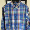 Ralph Lauren Shirts & Tops | Ralph Lauren Plaid Cotton Poplin Shirt | Color: Blue/Yellow | Size: Xlb