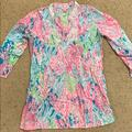 Lilly Pulitzer Swim | Lilly Pulitzer Cover Up | Color: Blue/Pink | Size: M