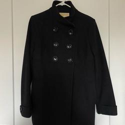 Michael Kors Jackets & Coats   Michael Kors Stand Collar Double Breasted Coat   Color: Black   Size: 8
