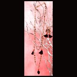 J. Crew Jewelry   Layered Tassel Long Necklace Wtassel Earrings   Color: Black/Red   Size: Os - Necklace & Earring Set