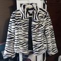 Nine West Jackets & Coats | Beautiful Faux Fur Jacket Nine West Sz M | Color: Black/White | Size: M