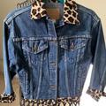 Levi's Jackets & Coats | Levi Strauss Denim Animal Print Jacket: Medium | Color: Blue | Size: M