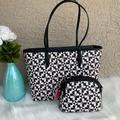 Kate Spade Bags   Nwt! Kate Spade Hollie Spade Clover Geo Tote Set   Color: Black/White   Size: Os