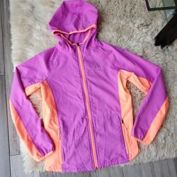 Columbia Jackets & Coats   Columbia Full Zip Hooded Rain Jacket Windbreaker   Color: Orange/Purple   Size: Lg