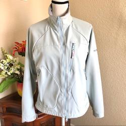 Columbia Jackets & Coats | Columbia Titanium Soft Shell Ski Jacket | Color: Blue/Gray | Size: M