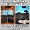 Polo By Ralph Lauren Shirts & Tops   Boys Polo Rl Nike Shirt Bundle ( 4 Items !)   Color: Black/Blue   Size: Youth Medium