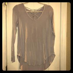American Eagle Outfitters Tops | Ls American Eagle Pale Blue Shirt | Color: Blue | Size: S