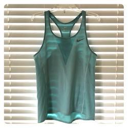 Nike Tops | Nike Light Blue Dri-Fit Workout Medium Tank Top | Color: Blue/Gray | Size: M