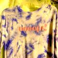 American Eagle Outfitters Tops | Oooops! Blue-White Tie Dyed Ls Soft Tee | Color: Blue/White | Size: Xs