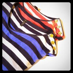 J. Crew Tops   Lot Of 2 J Crew Striped Nautical Ls Tops S   Color: Blue/Red   Size: Xs