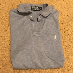 Polo By Ralph Lauren Shirts   Polo Collared Shirt Sleeve Shirt   Color: Blue   Size: M