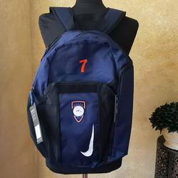 Nike Bags | Nike Navy Soccer Ball Carry Backpack #7 Futbol | Color: Black/Blue | Size: Os