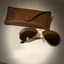 Ray-Ban Accessories | Brown Polarized Aviator Sunglasses | Color: Brown | Size: Os