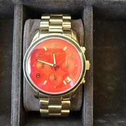 Michael Kors Jewelry | Orange Michael Kors Watch | Color: Gold/Orange | Size: Os