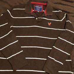 American Eagle Outfitters Shirts | Mens Ae Ls Shirt | Color: Brown/White | Size: Xxl