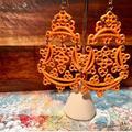 Jessica Simpson Jewelry | Jessica Simpson Enamel Chinese Lantern Earrings | Color: Orange | Size: 3