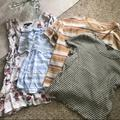 American Eagle Outfitters Tops | Lot Of 2 American Eagle Tops | Color: Green/Orange/White/Yellow | Size: S