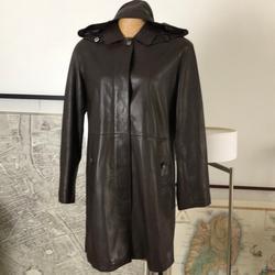 Burberry Jackets & Coats | Burberry Coat Lambskin Detachable Hoodie Coat | Color: Brown | Size: 6
