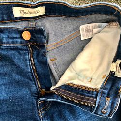 Madewell Jeans | Madewell Denim Jeans - Skinny 9 In. Mid Rise Jeans | Color: Blue | Size: 25