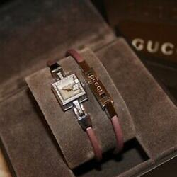 Gucci Accessories | Gucci 102 G Mini Pink Satin & Diamond Watch | Color: Pink/Silver | Size: Os