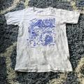 J. Crew Tops | J Crew Womens San Francisco Doodle Tee | Color: Blue/White | Size: Xs