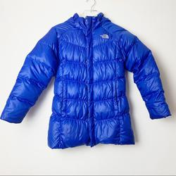 The North Face Jackets & Coats   Northface 550 Girls Down Puffer Jacket With Hood   Color: Blue   Size: Large 1416 Girls
