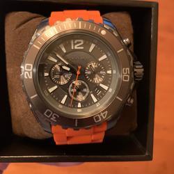 Michael Kors Accessories   Michael Kors Drake Chronograph Watch Steel Mk8234   Color: Black/Orange   Size: Os