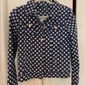 Kate Spade Jackets & Coats   Kate Spade Gingham Denim Jacket   Color: Blue/White   Size: S