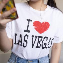 Urban Outfitters Tops | Nwot I Love Las Vegas T-Shirt | Color: Black/White | Size: M