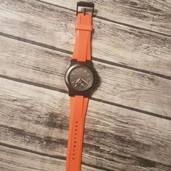 Michael Kors Accessories | Michael Kors Watch | Color: Black/Orange | Size: Os