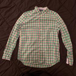 Polo By Ralph Lauren Tops   Ralph Lauren Polo Youth Boys Shirt   Color: Green/Pink   Size: Youth Boys 1820