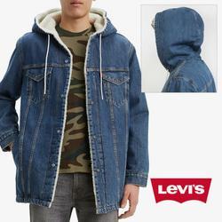 Levi's Jackets & Coats   Levis Mens Denim Jean Jacket Sherpa Lined Long Fit   Color: Blue   Size: Various
