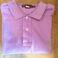 Polo By Ralph Lauren Shirts   Polo Ralph Lauren Shirt Sleeve Shirt - Size Xl   Color: Purple   Size: Xl
