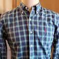 Ralph Lauren Shirts   Ralph Lauren Blue Green Plaid Button Down   Color: Blue/Green   Size: M