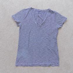 J. Crew Tops | J. Crew Jcrew Vintage Cotton V Neck Shirt | Color: Black/White | Size: S