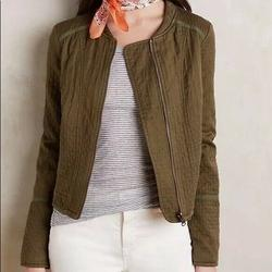 Anthropologie Jackets & Coats   Hei Hei Anthropologie Quilted Riding Jacket   Color: Green   Size: M