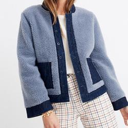 Madewell Jackets & Coats   Madewell Reversible Sherpa Jean Jacket   Color: Blue   Size: Xl